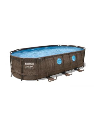 Bazen Power Steel™ Swim Vista™ Oval 549 x 274 x 122 cm s filtrsko črpalko
